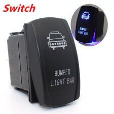 Car Rocker Switch Backlit Front Bumper Light Blue LED 5Pins On-Off Switch 12V