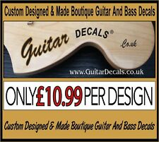 More details for guitar neck waterslide headstock decals - headstock decal -  2 for £10.99