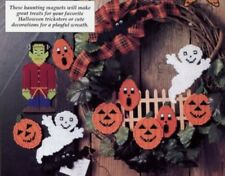 Halloween Hobgoblins Ghost Magnets Plastic Canvas PATTERN/INSTRUCTIONS NEW