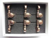 Schaller M6 Vintage Tuners (90 Grad) Mechaniken 3+3 Vintage Copper