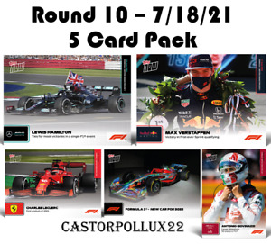 14k FB No Cancel 5 Card Bundle Set # 32 33 34 35 36 -2021 Topps Now Formula 1 F1