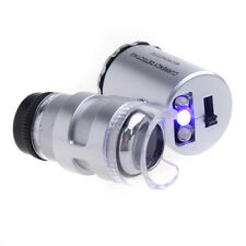 Mini 60X Pocket Microscope Hydroponic Garden Plant Bud Pest Magnifier LED Light
