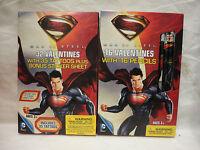 Lot of 2 32 Superman Man Steel Valentines, 16 MoS Valentines w/ Pencils Q1