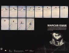 SNOWBOARD POSTER~Marcus Egge Original Burton 2 Sided OOP Signed Bio Profile New~