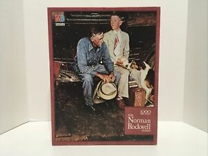 "Milton Bradley 1000 Piece Puzzle The Norman Rockwell Series ""Breaking Home Ties"""