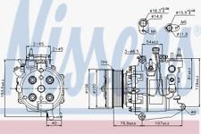 Kompressor Klimaanlage - Nissens 89247