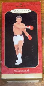 NIB Hallmark Keepsake Muhammad Ali Christmas Holiday Ornament Figure 1999 Sports