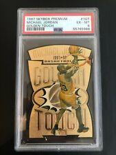 Michael Jordan 1997-98 Skybox Premium Golden Touch Die-Cut #GT1 SUPER RARE PSA 6