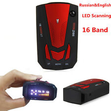 Car Radar Detector 16 Band 360° Laser Speed Detector W/English Russian Voice Red