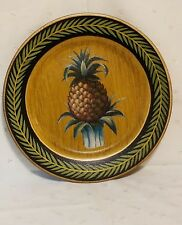 "Pineapple Green & Gold Decorative 10"" Plate"