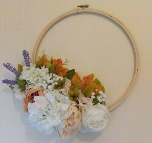 Floral wreath - autumn wreath, wedding, nursery, mothers day, valentines gift