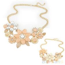 EG_ Moda Para Mujer Flor Rosa Gargantilla Collar babero