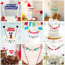 Cake Bunting Banner Kit Flag Birthday Tools Cup Cake Party Decorating UK Stock