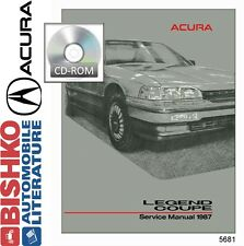 1987 Acura Legend Coupe Service Shop Repair Manual CD Engine Drivetrain Wiring