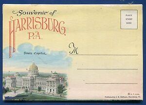 Harrisburg Pennsylvania pa #2 1920s vintage postcard folder
