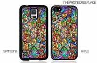 Disney Stained Glass Characters Phone Case for Apple or Samsung Phone Case Cover
