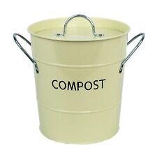 Crème De Compost Caddy Avec Bac Intérieur-Cuisine composteur de-Métal Seau