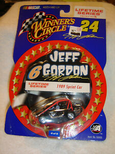 NASCAR Jeff Gordon Winners Circle 1989 #6 Sprint Car Lifetime Series 1/64 Scale