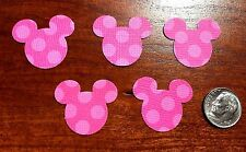 50 Pink Polka Dot MINNIE MOUSE DIE CUTS PUNCHES HEADS Mickey Confetti Party