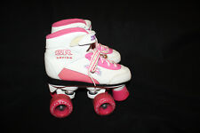Youth Girl White Pink SR Series Pacer ZTX Roller Skate size 1