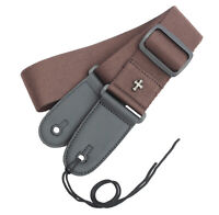 Guitar Fashion Strap Belt Pouch Pocket Cross Quality Cotton ~BROWN~ +3 Picks