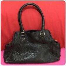 afc4bd02c2 FENDI Black Leather BAG DE JOUR Tote Satchel Bag