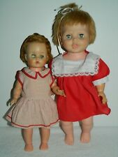 2 Vintage Plastic Baby Dolls Eegee and Unmarked