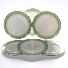 Royal Worcester Regency Green, 6 X Luncheon Plates, 9 Inches