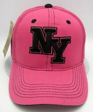NY NEW YORK City Cap Hat NYC Yankees Mets Rangers Giants Jets Pink Black NWT
