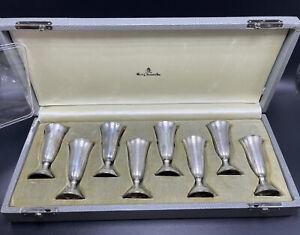 Randahl Georg Jensen USA Antique Sterling Silver Set Of 8 Cordial Shot Cups
