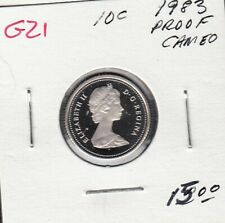 G21 CANADA 10c - 10 CENTS COIN 1983 PROOF FROSTED CAMEO DESIGN $15.00
