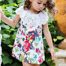 Toddler Kid Baby Girls Lace Floral Princes Dress Casual Party Holiday Clothes UK
