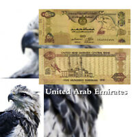 WR United Arab Emirates Colored Gold UAE 500 Dirhams Banknote Polymer Money Bill
