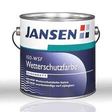 Jansen ISO-WSF Wetterschutzfarbe weiß 5l Holzfarbe Deckfarbe Holzschutzfarbe