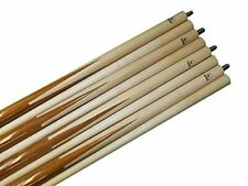 "Aska Set of 4 SP1 Malaswood Sneaky Pete Billiard Pool Cues 19-Ounce, 58"""