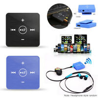 Mini Portable Clip-on Wireless AUX Stereo Bluetooth Music Audio Receiver Adapter