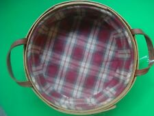LONGABERGER BASKET FALL PLAID HARVEST CARRY BASKET ROUND
