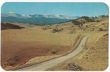 Highway over BIG HORN MOUNTAINS Peaks Road  COLORADO Postcard CO