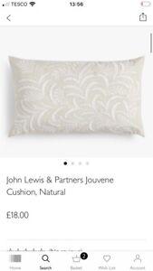 BNWT John Lewis Jouvene Cushion/Natural/RRP£18