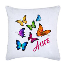 Butterfly Sequin magic Cushion, custom with a name Gift ideas Christmas gifts AU