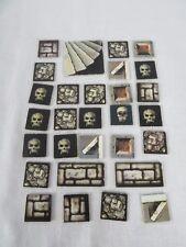 1990 Heroquest Game Replacement Lot of 29 Tiles Skulls Trap etc