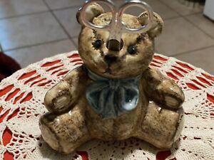 Teddy Bear Holder Sissores And Twine