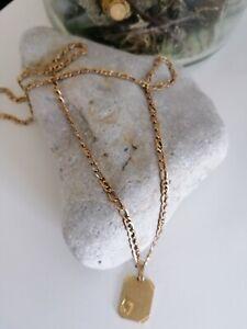Kette Gold, 333,50cm lang, mit Anhänger Sternzeichen Fisch Gold 333