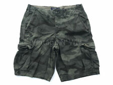 Abercrombie Fitch Mens 32 Vintage Olive Green Army Camo Cargo Shorts AF Jeans