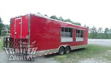 NEW 2018 8.5X28 8.5 X 28 V-NOSED ENCLOSED CONCESSION FOOD VENDING BBQ TRAILER