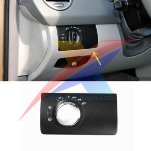 For Mercedes-Benz X164 W164 ML GL Headlight Control Switch Panel 3 Hole Black