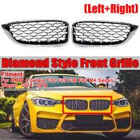 Rejilla de riñón frontal de diamantes para BMW Serie 4 F32 F33 F36 M4 F82 2014-2