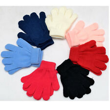 Boys & Girls Solid Winter Kids Gloves Baby Toddler Red Black Mittens Gloves 7Col