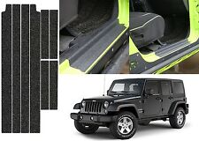 Rubberized Stick On Door Entry Guards For 2007-2017 Jeep Wrangler New Free Ship
