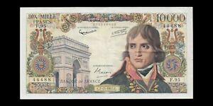 FRANCE - 10000 Francs Bonaparte 1957 (Numéro 44488) F.51.10 P.136b TTB / VF